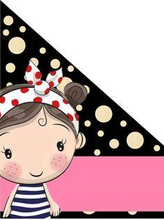 Portada Laura Camila Girl Cartoon, Cute Cartoon, Birthday Calendar Classroom, Boarder Designs, Diy Gifts For Girlfriend, Kids Background, Pretty Kids, Card Sentiments, Borders And Frames