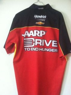 Jeff Gordon AARP Hendrick 2013 Race Used Pit Crew Shirt Nascar Sprint Chevy