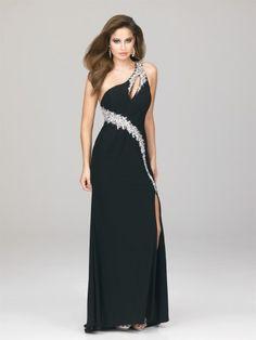 2012 Style Sheath / Column One Shoulder Beading  Sleeveless Floor-length Chiffon Prom Dress / Evening Dress (SZ0241723 )