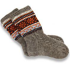 How to knit grandma wool socks with Latvian traditional pattern, knitting pattern Wool Socks, Knitting Socks, Knitting Patterns Free, Free Knitting, Knit Stockings, Winter Socks, Patterned Socks, Wool Yarn, Tricot
