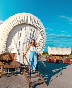 Glamping in Oklahoma City: Sleep in a Conestoga Wagon - My Curly Adventures