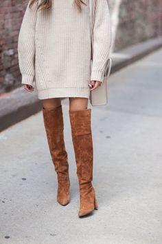 41322fff7ca sweater dress  amp  knee-high boot Knee High Boots Dress