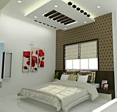 Gypsum Ceiling, False Ceiling Ideas, Living Room Designs, Bedroom Designs, Bedroom  Ideas, Ceiling Design, Bedroom Apartment, Bed Room, Modern Interiors