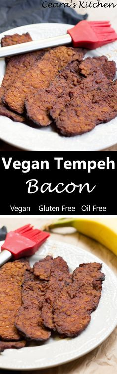 Vegan Tempeh Bacon (Baked!)