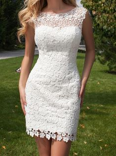 Open Back Short Wedding Dresses,Lace Wedding Dress With Detachable Skirt, Wedding Reception DressCheap boho wedding dress, Buy Quality boho wedding directly from China vestidos de novia Suppliers: 2017 New Style Elegant Scoop Lace Sleeveless Long Mer Tulle Ball Gown, Tulle Dress, Dress Skirt, Tulle Lace, Dress Lace, Vestido Dress, Lace Dresses, Lace Fabric, Short Lace Wedding Dress