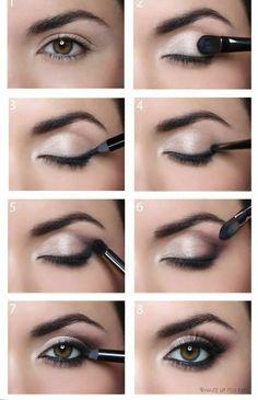 Como hacer ojos ahumados