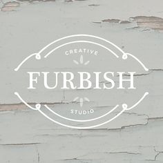 Austin Branding for Furbish | Doodle Dog. Take a look at our latest #logo #design for this rustic inspired furniture painting business. www.doodledog.com