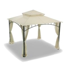 OPEN BOX Replacement Canopy Top Cover for Target's Summer Veranda Gazebo - Beige - A very good product for a fair price.This Garden Winds that is ranked 241133 Hampton Bay Patio Furniture, Wicker Patio Furniture Sets, Lawn Furniture, Gazebo Sale, Gazebo Pergola, Gazebo Canopy, Canopies, Gazebo Replacement Canopy, Target