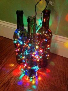 botellas iluminadas - Buscar con Google
