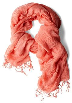 Coral scarf.
