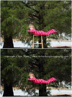 before & after levitation photo. child photography.