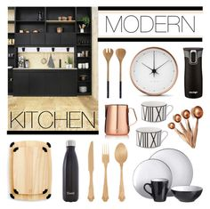 """Modern Kitchen"" by lgb321 ❤ liked on Polyvore featuring interior, interiors, interior design, home, home decor, interior decorating, Georg Jensen, Contigo, S'well and Nicolas Vahé"