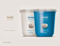 NAKED (Concept) on Packaging of the World - Creative Package Design Gallery - Design Inspiration - Yogurt Yogurt Packaging, Dairy Packaging, Cheese Packaging, Honey Packaging, Food Packaging Design, Packaging Design Inspiration, Brand Packaging, Packaging Ideas, Label Design