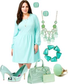 """""""Mint Obsessed"""" by anesbitt09 ❤ liked on Polyvore"""