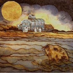 """Norfolk: """"Time To Make For Shore ` Blakeney"""" by Mandy Walden Collagraph, Coastal Art, Over The Moon, Hand Coloring, Wildlife, Lino Prints, Watercolor, Norfolk, Tiles"""