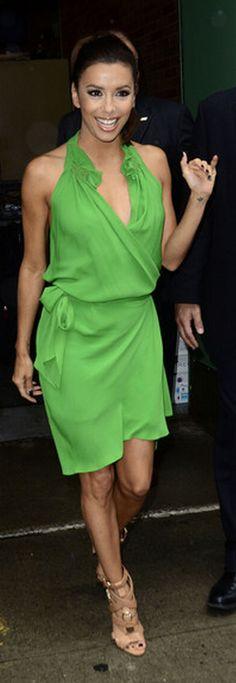 Eva Longoria:     Dress – Vanessa Bruno    Shoes – Brian Atwood