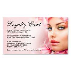 beauty salon loyalty cards template