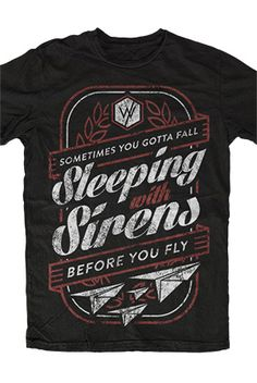 Sleeping With Sirens | Before You Fly Tee-----IT'S A WAKE UP CALL