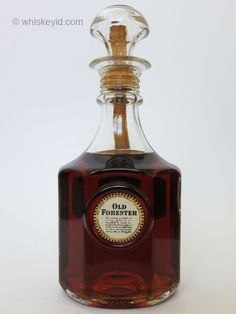 http://whiskeyid.com/old-forester-bottled-in-bond-decanter-1958-1964/