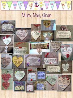 Mum, nan, gran, Nanna etc