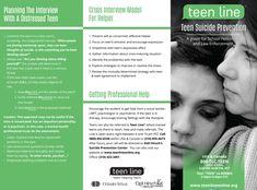 Teenline: Teen Suicide Brochure for Law Enforcement and School Personnel