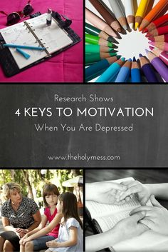One of the toughest aspects of depression is that is zaps your motivation. If you or someone you love is going through a time of depression, please read this post. Research has found 4 keys to motivation and getting moving again.