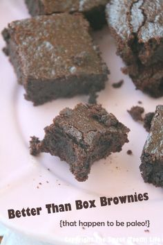 Better than Box Brownies - Enjoy Life chocolate chips, coconut oil, honey, eggs, coconut sugar, almond meal, coconut flour, unsweetened cocoa powder, baking soda