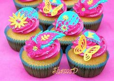 Bright and vibrant cupcakes