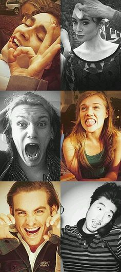 Mortal Instruments cast.  Just as weird as the fans...I love it