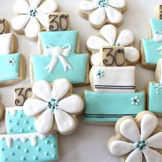 Birthday Cake and Flower Cookies