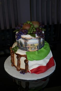 Happy Birthday Maria Italian Wedding Cake