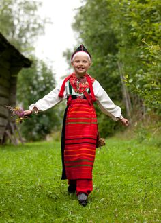 These costumes are from the area of Boda, Sweden and show the way children were dressed in the 19th century