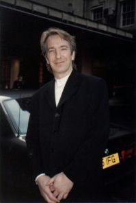 """1991 - Alan Rickman at the Time Out Awards for """"Tango at the End of Winter."""""""