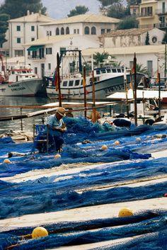 Mallorca. Fischerhafen Port Soller.