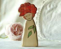 wooden rose fairy.