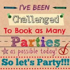 Book parties with me!!! We can do it online, thru Facebook, a catalog/book party even at your home! Contact me