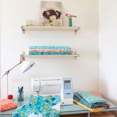 Say Hello to New Moda Designer Crystal Manning « modafabrics Basement Studio, Purple Bathrooms, Quilting Room, Surface Pattern Design, Say Hello, Floating Nightstand, Fabric Design, Printing On Fabric, House Design