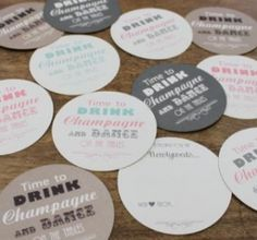 Love these coasters that double as guest comment cards