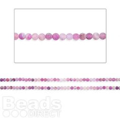 "£3.90  Purple Weathered Agate Round 6mm Beads 14.5"" Strand (approx 65 beads per strand)"
