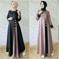 Model Baju Gamis Terbaru Lebaran Remaja Modern Hijab Fashion, Hijab Fashion Inspiration, Islamic Fashion, Abaya Fashion, Muslim Fashion, Women's Fashion Dresses, Abaya Designs Latest, Western Dresses For Women, Long Dress Design