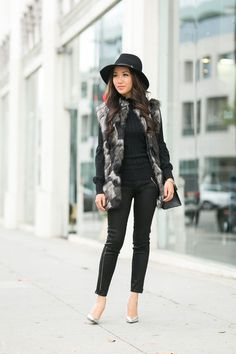 Fur vest = a fall must. Shop Wendy's exact vest and entire look by clicking on the photo.