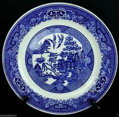 """Royal Sebring Ohio Blue Willow Ware 9 1/8"""" diameter dinner plate"""