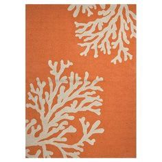 Jaipur Living Bough Out Indoor/ Outdoor Abstract Orange Area Rug X Orange Area Rug, Orange Rugs, Coral Rug, Coral Print, Jaipur Rugs, Thing 1, Cool Ideas, Indoor Outdoor Area Rugs, Outdoor Dining