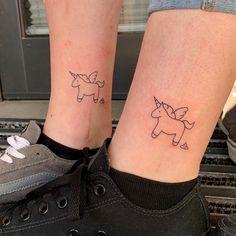 """Tattoo by Mani auf Instagram: """"Freundschaftstattoo 😊🥰 - #freundschaftstattoo #friendshiptattoo #einhorntattoo #unicorn #unicorntattoo #pummeleinhorn #tattooinspiration…"""" Tattoos, Instagram, Tatuajes, Tattoo, Tattos, Tattoo Designs"""