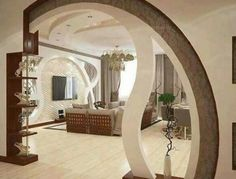 Home Interior Living Room Most Stunning Room Divider And Partition Designs That Are Fantastic Living Room Partition Design, Room Partition Designs, Ceiling Design Living Room, False Ceiling Design, Living Room Designs, Partition Walls, Small Living Rooms, Room Interior, Home Interior Design