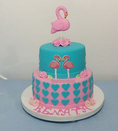Bolo Flamingos By Maria Rosa
