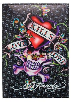Image detail for -... » Ed Hardy Love Kills Slowly Design Passport Holders ED-psHld001
