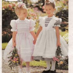 McCall's 8697, A Short Puff Sleeve, Back Button, Full Skirt Dress and Pinafore Pattern by So Sew Some!