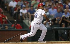 CrowdCam Hot Shot: Texas Rangers third baseman Adrian Beltre singles in a run in the first inning of the game against the Oakland Athletics at Rangers Ballpark in Arlington. Photo by Tim Heitman