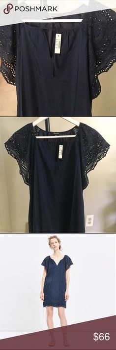 "NWT Madewell Embroidered Shift Dress This dress is NWT and has never been worn. It measures 34"" long and 18"" from armpit to armpit. The dress slips on over your head and is 70% cotton / 30% silk. This comes from a clean, smoke free home! Madewell Dresses"